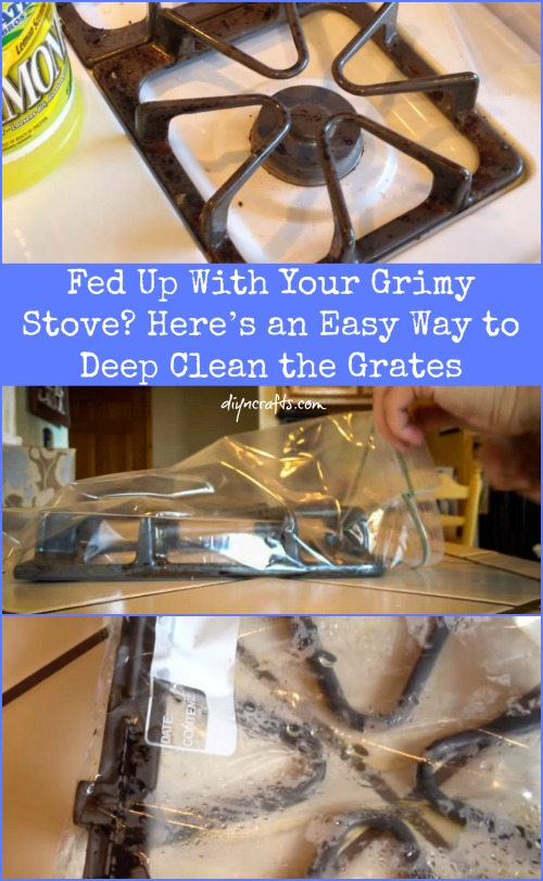 Fed Up With Your Grimy Stove? Here's an Easy Way to Deep Clean the Grates..