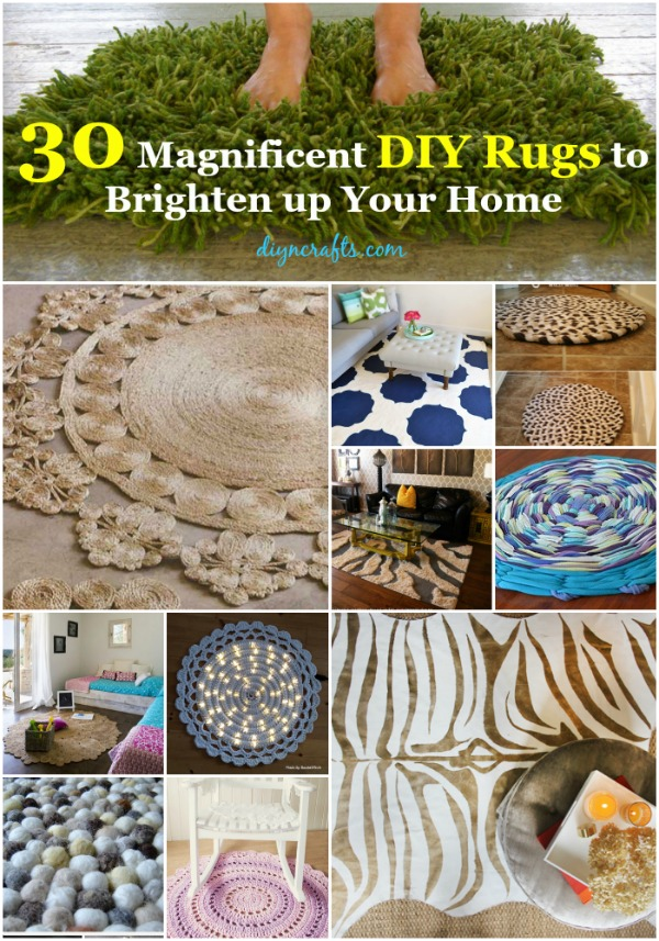 30 Magnificent Diy Rugs To Brighten Up