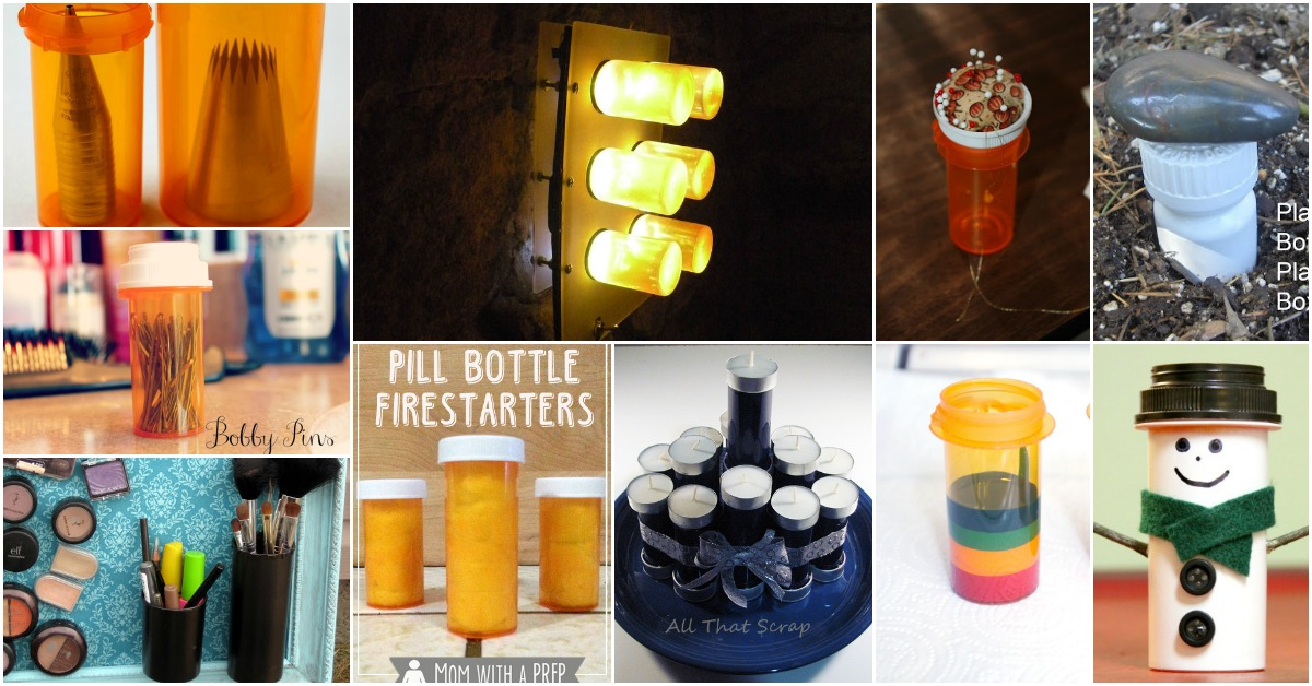 736fad8ec93 30 Genius Ways to Reuse and Repurpose Empty Pill Bottles - DIY   Crafts