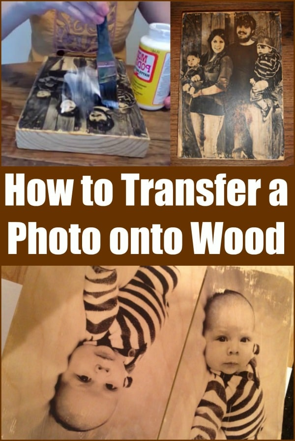 Toss the Boring Frames: How to Transfer a Photo onto Wood...