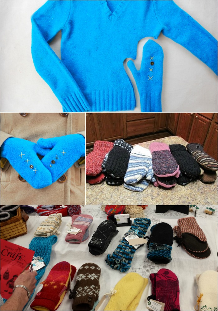 A Quick and Easy Way to Turn Old Sweaters into Warm, Cozy Mittens