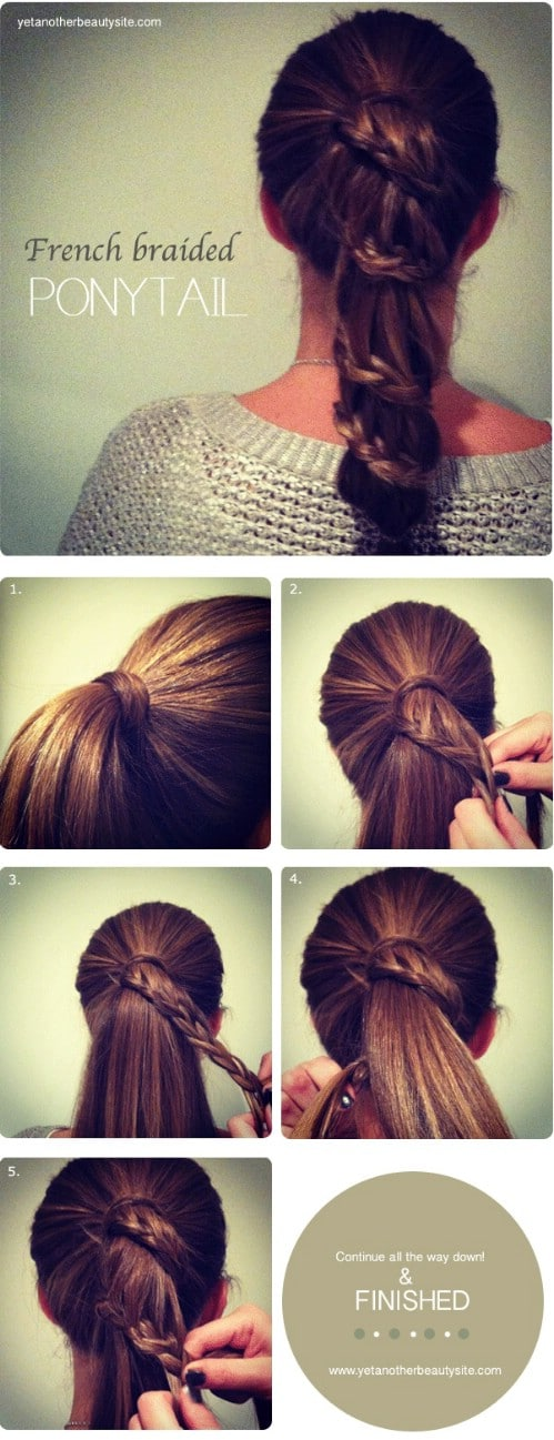 The French-Braid-Wrapped Ponytail