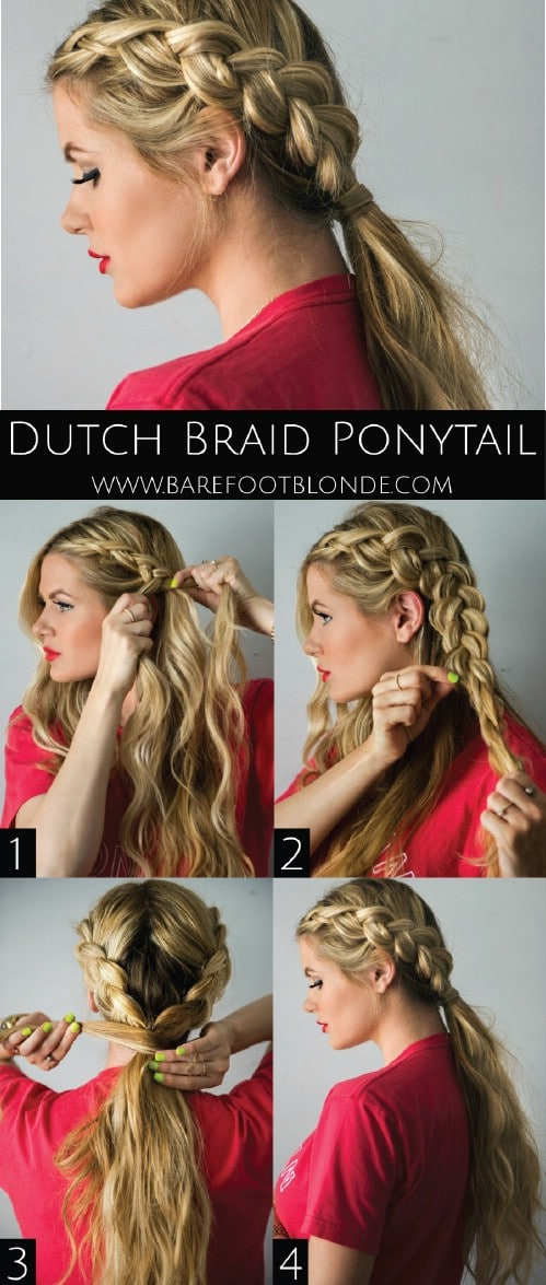 The Dutch Braid Ponytail