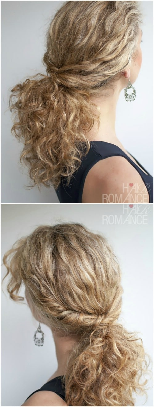 The Twisted Ponytail for Curly Hair