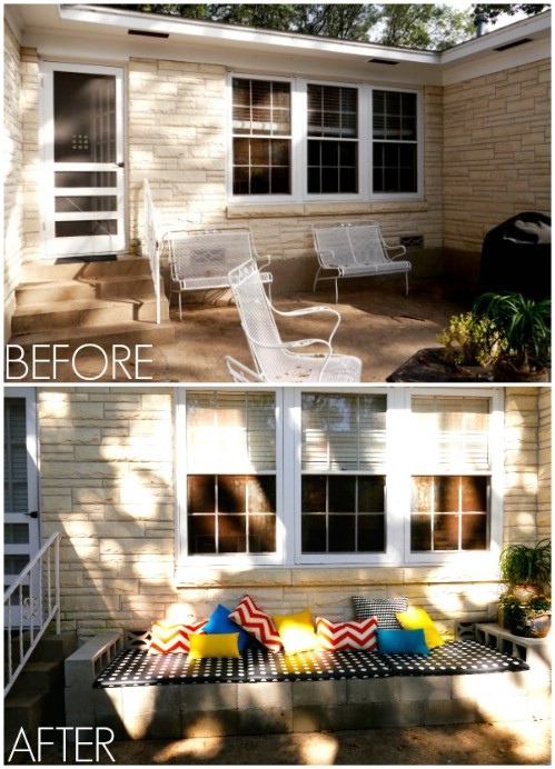 Solid Bench - 17 Creative Ways to Use Concrete Blocks in Your Home