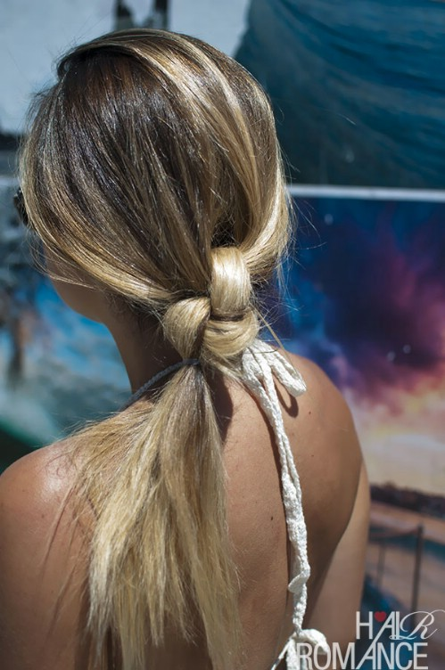 The Double Knot Ponytail