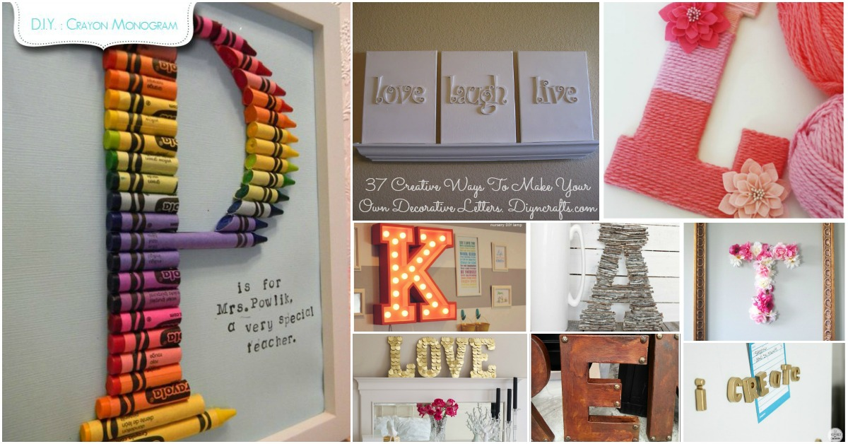 Decorating With Letters And Words 37 Striking Tutorials