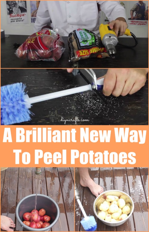 Probably the Best Food Hack You'll Ever See: Peeling Potatoes with Power Tools...