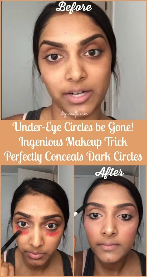 Under-Eye Circles be Gone! Ingenious Makeup Trick ...