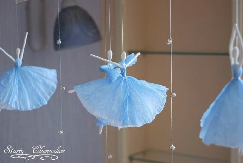 Step 10 - How to Make Dancing Ballerinas from Wire and Napkins