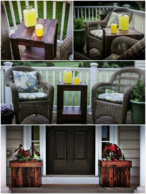 End Table and Planters