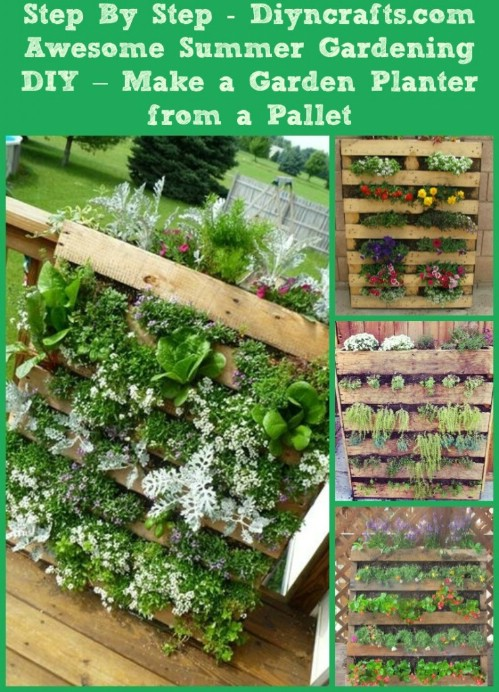 Turn a pallet into a planter.