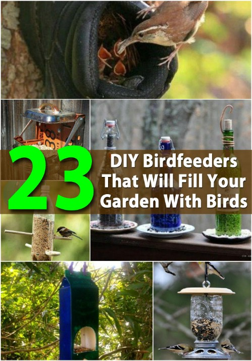 Amazing DIY birdfeeders.