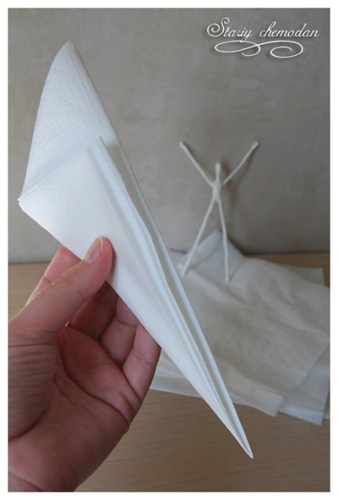 Step 4 - How to Make Dancing Ballerinas from Wire and Napkins