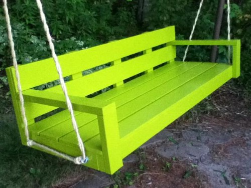 Marvelous Exciting Outdoor Diy Brilliant Swinging Benches For Onthecornerstone Fun Painted Chair Ideas Images Onthecornerstoneorg