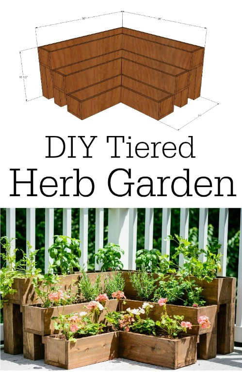 Make a beautiful tiered herb garden.