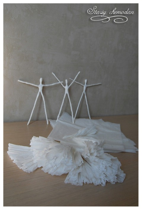 Step 7 - How to Make Dancing Ballerinas from Wire and Napkins
