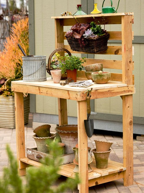 Build a potting bench.