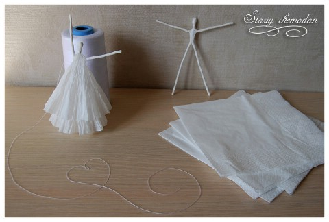 Step 8 - How to Make Dancing Ballerinas from Wire and Napkins