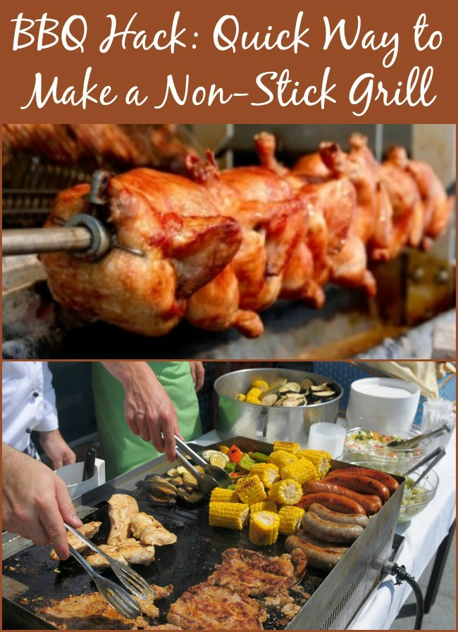 BBQ Hack: Quick Way to Make a Non-Stick Grill..