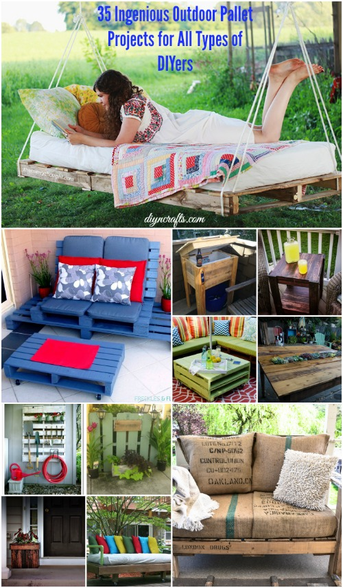 35 Ingenious Outdoor Pallet Projects