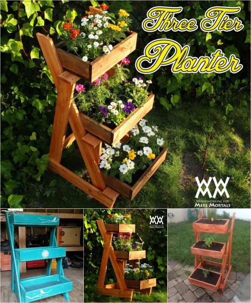 Easy Outdoor Project: Stunning 3-Tier Planter made from