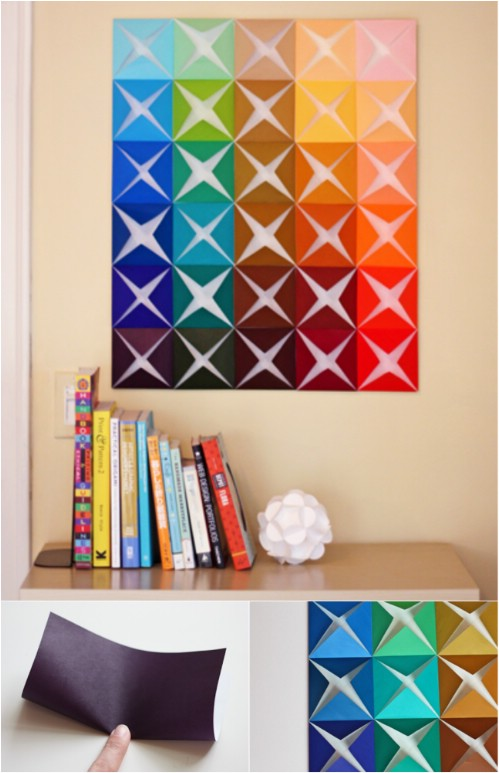 diy wall easy projects paper squares gorgeous crafts decor craft absolutely anyone creative decoration walls simple drawings handmade fun cool