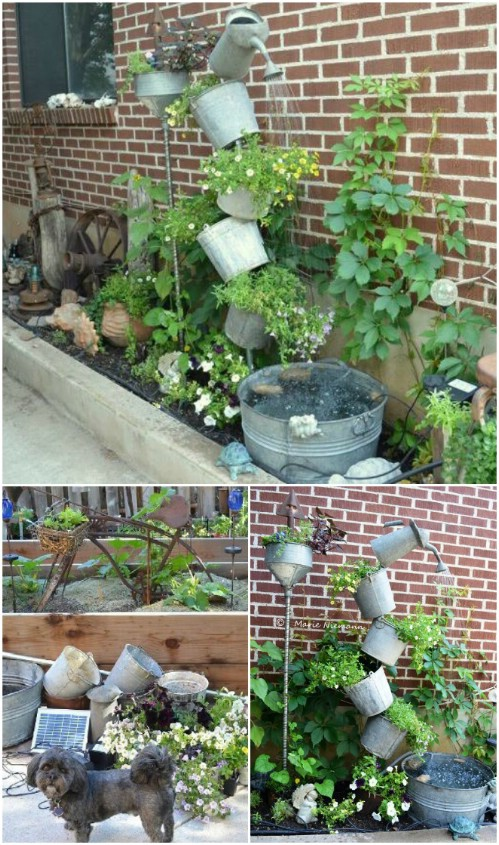 Tipsy Solar Fountain