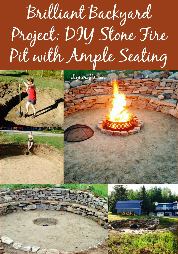 Brilliant Backyard Project: DIY Stone Fire Pit with Ample Seating...