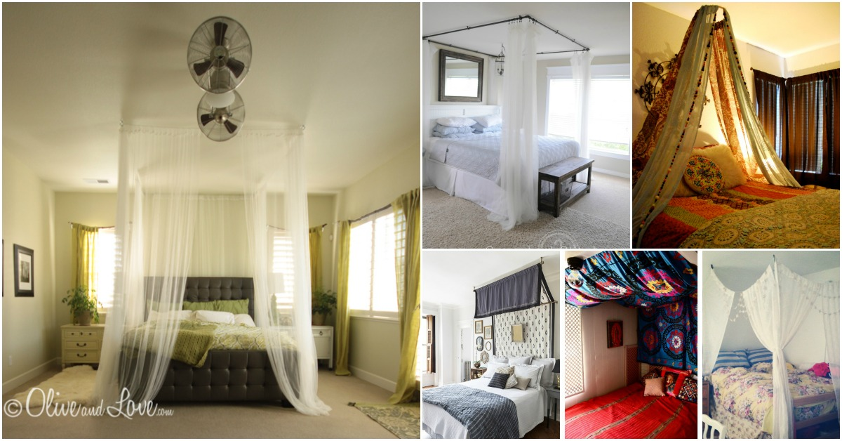 Sleep In Absolute Luxury With These 23 Gorgeous Diy Bed Canopy Projects Crafts