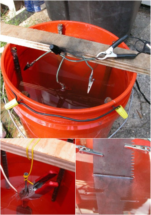 Rusty Tools? Try this Incredible Electrolytic Rust Removal
