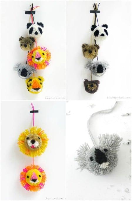 Make adorable animal pom-poms