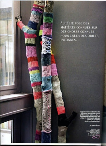 Crocheted sticks