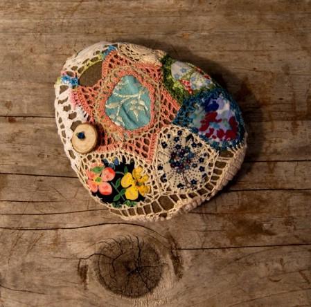 Patchwork river rock
