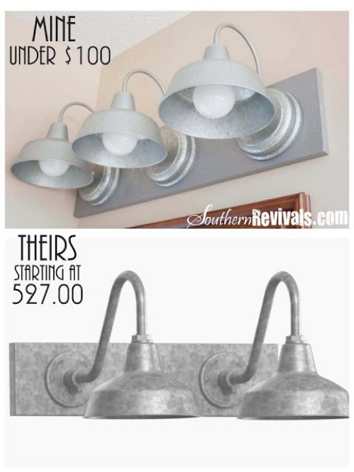 Galvanized Light Fixture