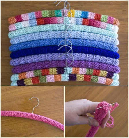 Crochet your clothes hangars