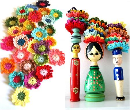 Crochet beautiful flowers