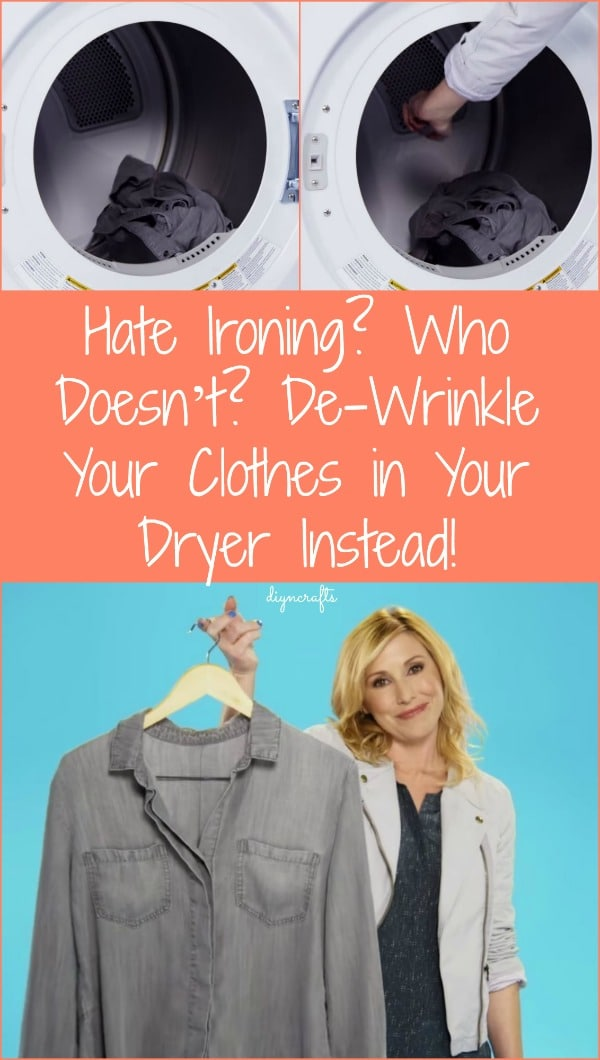 Hate Ironing? Who Doesn't? De-Wrinkle Your Clothes in Your Dryer Instead!