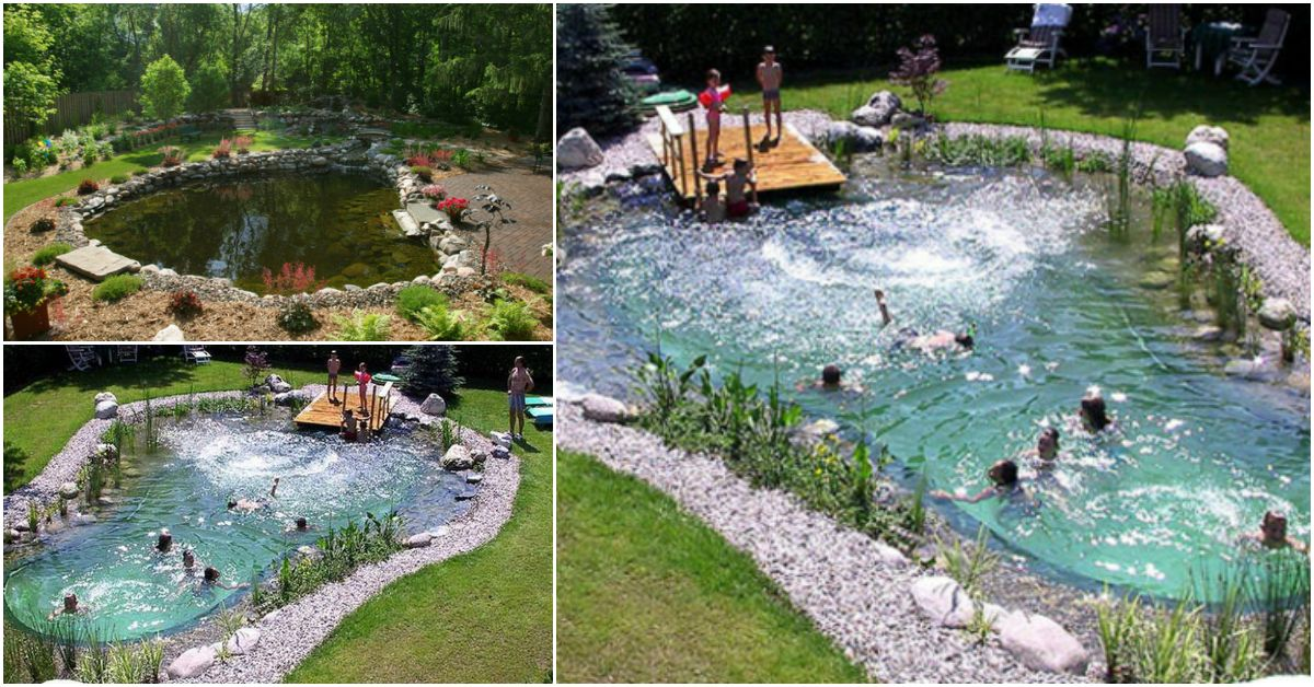 Magical Outdoor Diy How Make An All Natural Swimming Pond