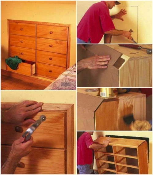 DIY Knee Wall Dresser