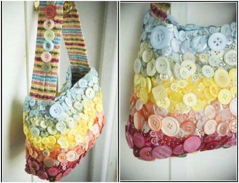 Buttoned-Up Handbag