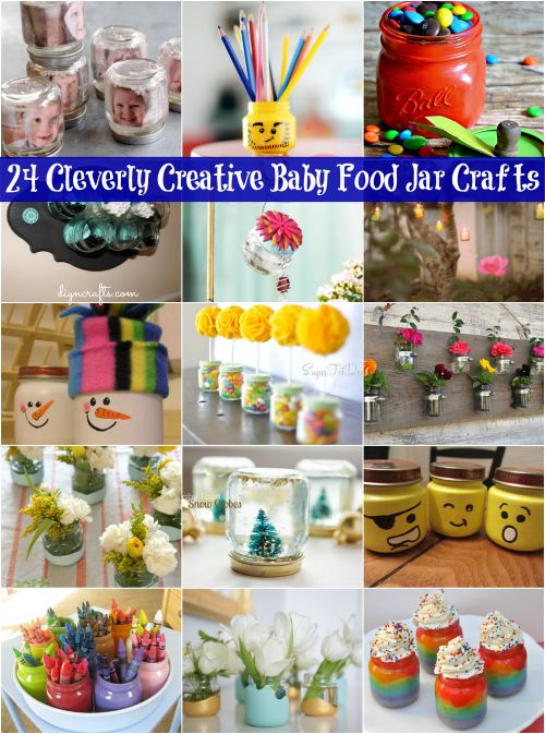 24 Cleverly Creative Baby Food Jar Crafts Its All About