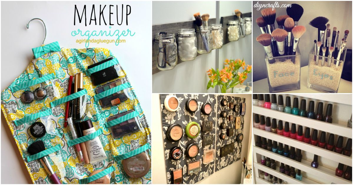 21 Diy Makeup Organizing Solutions That Ll Change Your Whole Beauty Regimen Diy Crafts