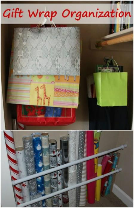 Gift Wrap Storage