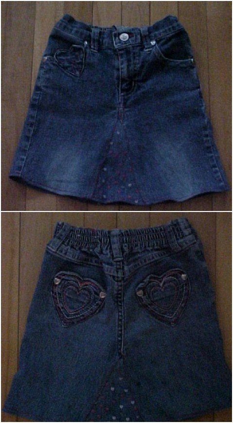 Turn a pair of old jean shorts into a stylish skirt.