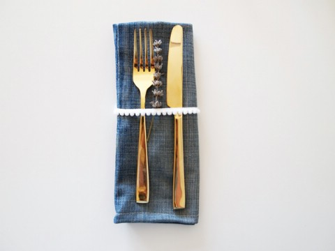 Make denim napkins to go with your denim placemats.