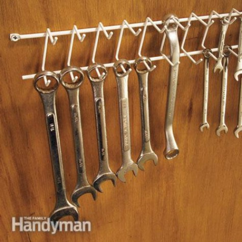 Use a belt rack for your wrenches.