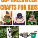 Halloween kids craft collage