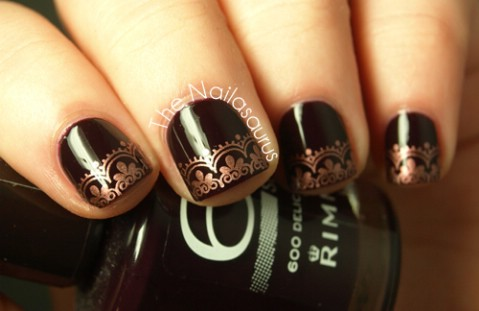 Lacey copper tips