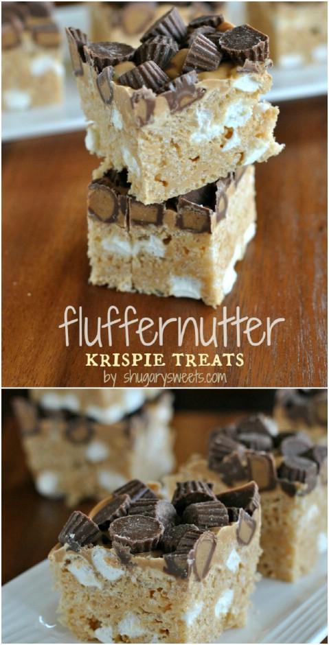 Fluffernutter Rice KrispieTreats
